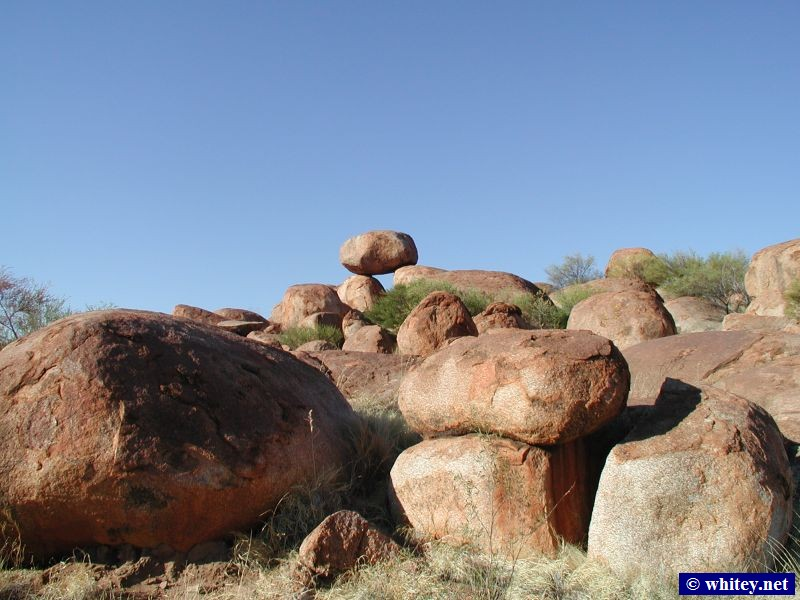 The Devil's Marbles (Karlu Karlu), Half way between Tennant Creek and Alice Springs, 澳大利亚.