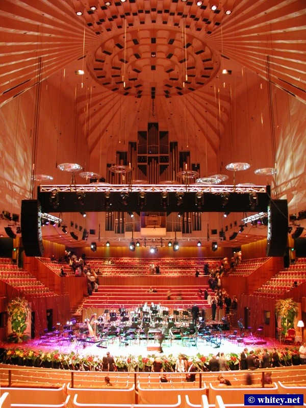 Inside the Sydney Opera House, Sydney, Australia.
