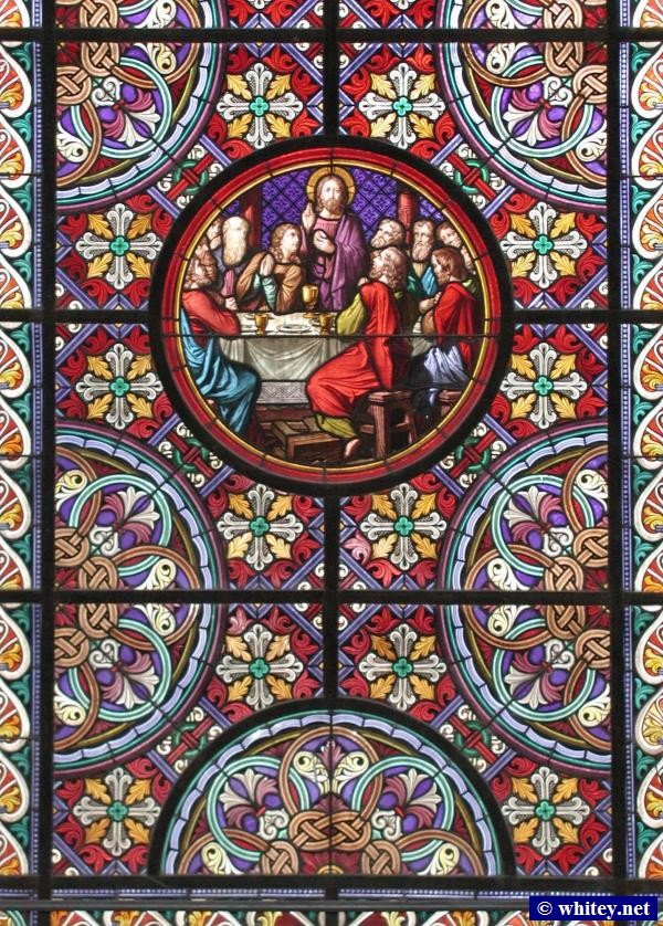 Stained glass window, Basel Cathedral, Basel, Switzerland.