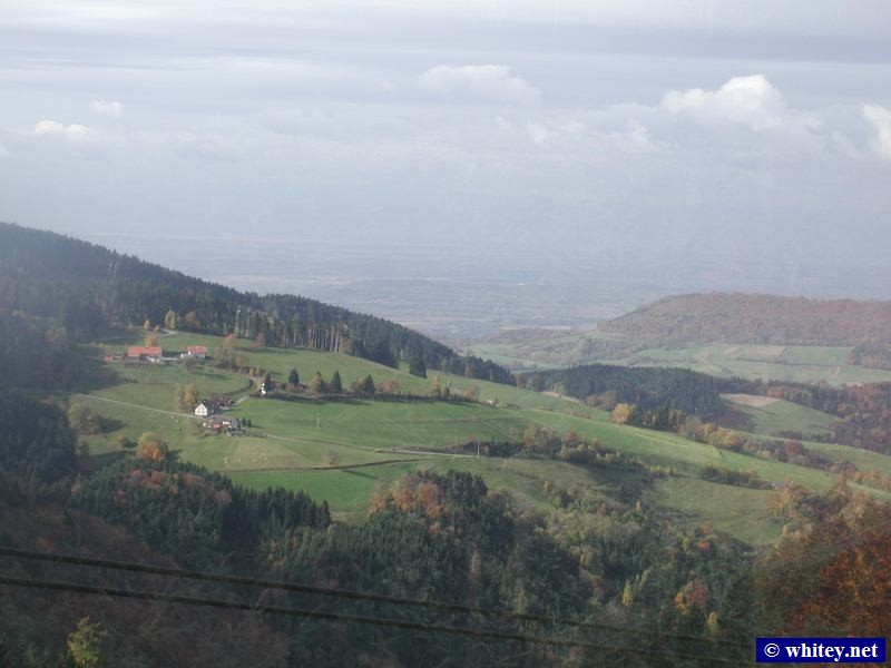 View from the cable car up to Schauinsland, Freiburg, Alemania. This was a day trip for Peter and Andrew. (Octubre 27)