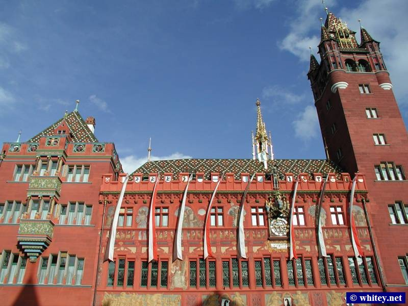 The Basel Rathaus, i.e. The Basel Town Hall, Basel, Schweiz.