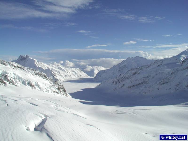A view from Jungfraujoch, Suisse, (3454m) – The highest railway station in Europe.