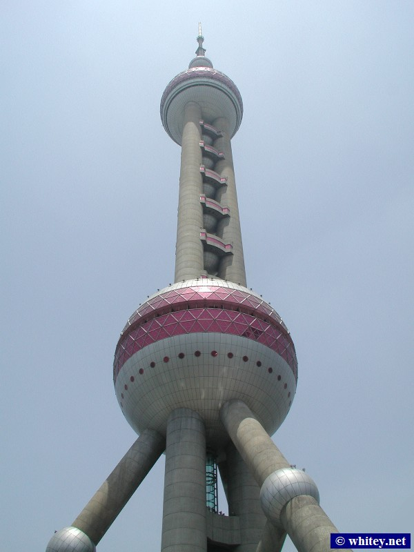 Oriental Pearl Tower, Shanghai, China.  东方明珠塔.
