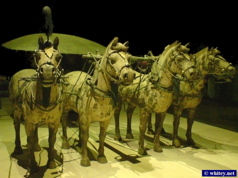 Horses & War Chariot, Terracotta Warriors, 西安, 中國.  兵马俑, 西安, 山西.
