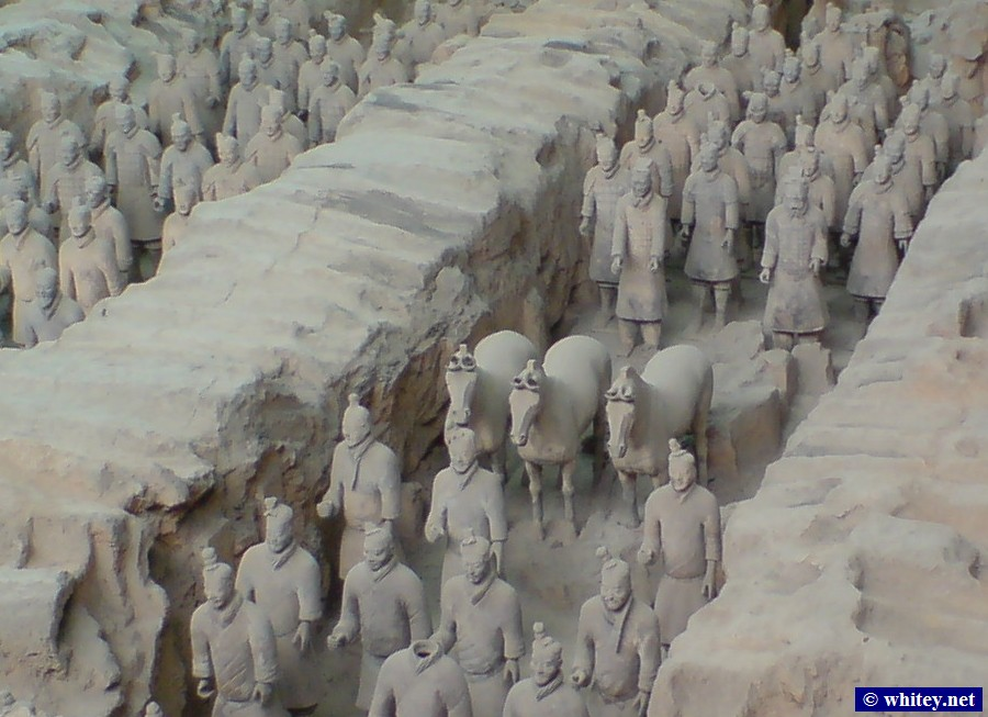 Terracotta Warriors and Horses, Pit 1, 西安, 中國.  兵马俑, 一号坑, 西安, 山西.