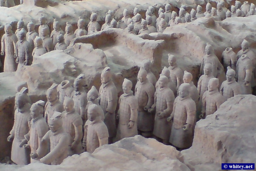 Terracotta Warriors, Pit 1, 西安, 中國.  兵马俑, 一号坑, 西安, 山西.