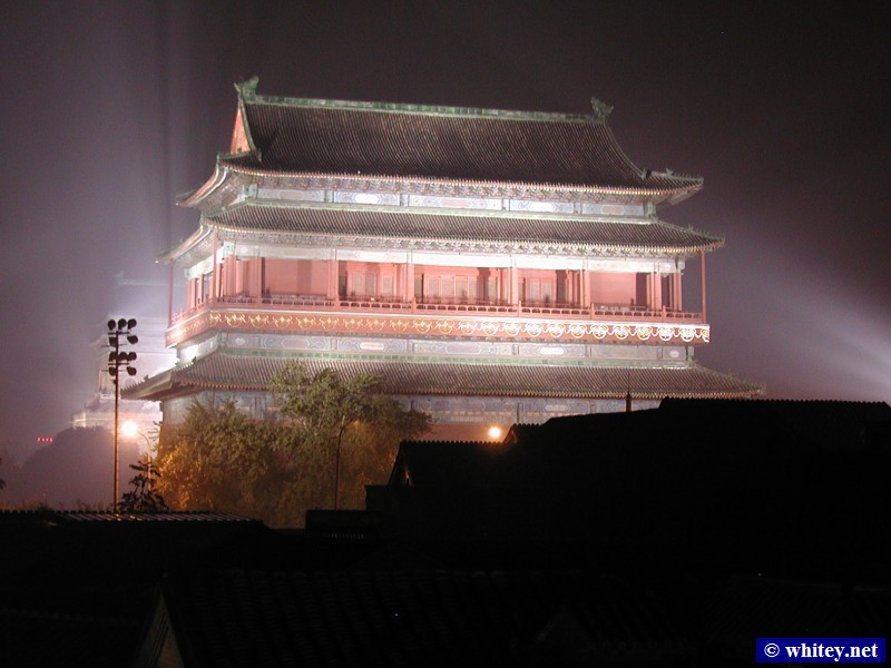 Drum Tower (Night Photo), بكين, الصين.  鼓楼 夜景.