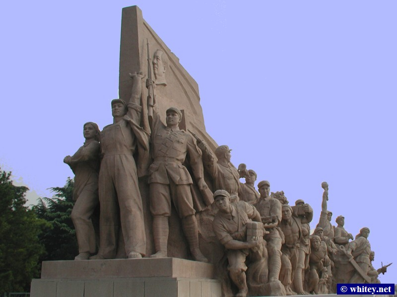 Revolutionary Statues, 天安門広場, 北京, 中国.  天安门广场.