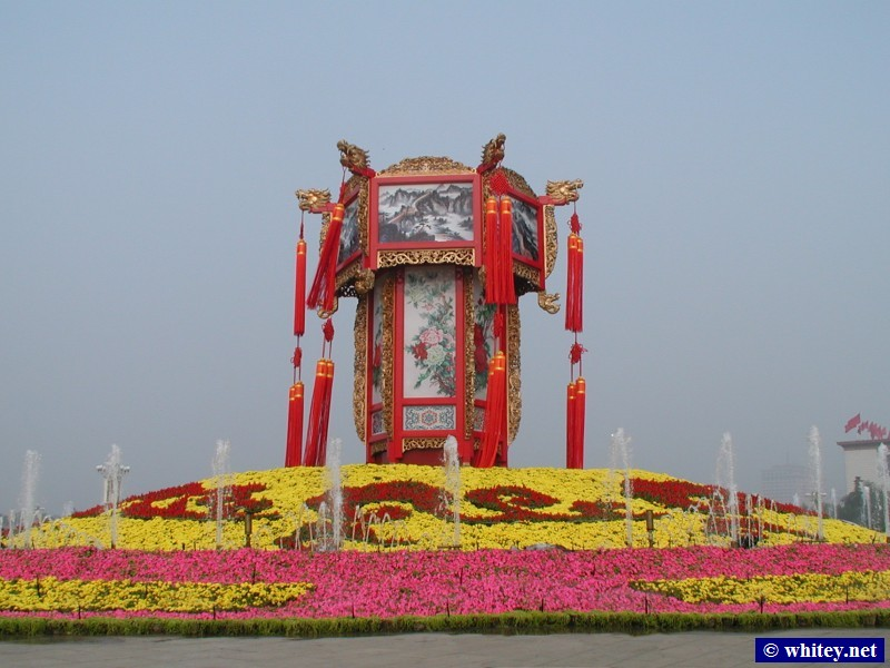 May Day Holiday Display, Praça da Paz Celestial, Pequim, China.  天安门广场.