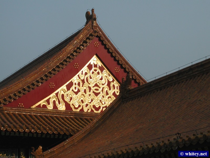 Gold Decorative Pattern on Roof, Ciudad Prohibida, Pekín, China.  故宫.