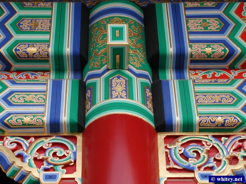 Colourful Decorative Pattern on Eaves, Ciudad Prohibida, Pekín, China.  故宫.
