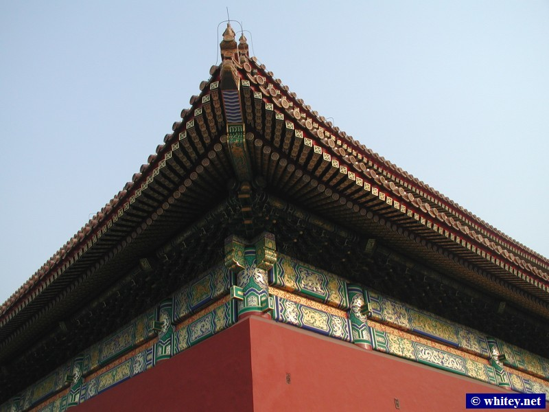 Roof, Forbidden City, 北京, 中国.  故宫.
