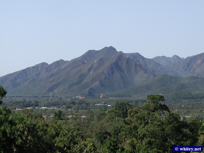 View towards Countryside, Ming Dynasty Tombs, 北京, 中国.  风景, 明朝十三陵.