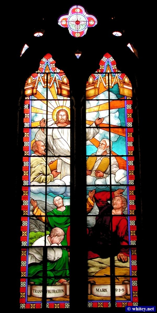 Transfiguration of Jesus, 花窗玻璃 windows, Cathedral of the Sacred Heart of Jesus, 广州, 中国. 耶穌聖心主教座堂.