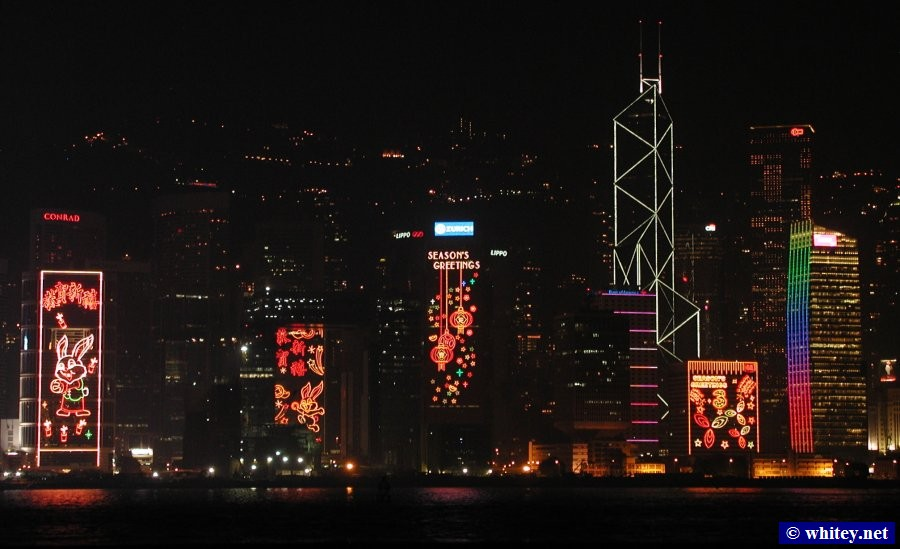 Chinese New Year Building Lights, هونج كونج.