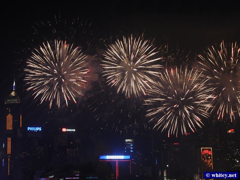 Chinese New Year Fireworks, هونج كونج.