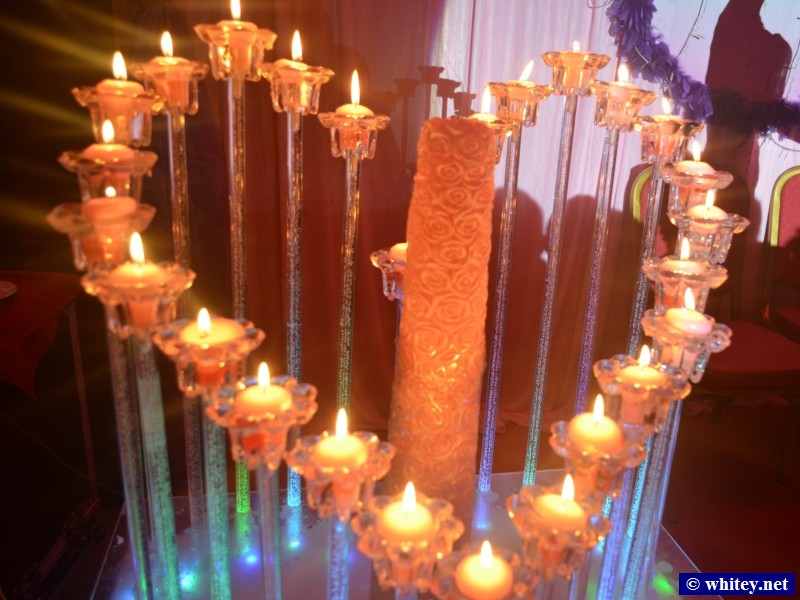 Heart of candles.