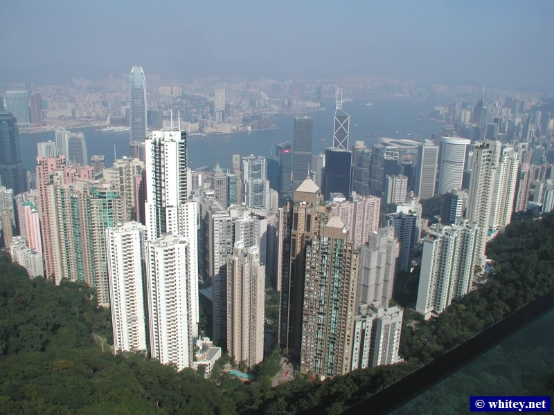 View from Victoria Peak, هونج كونج.  太平山頂風景.