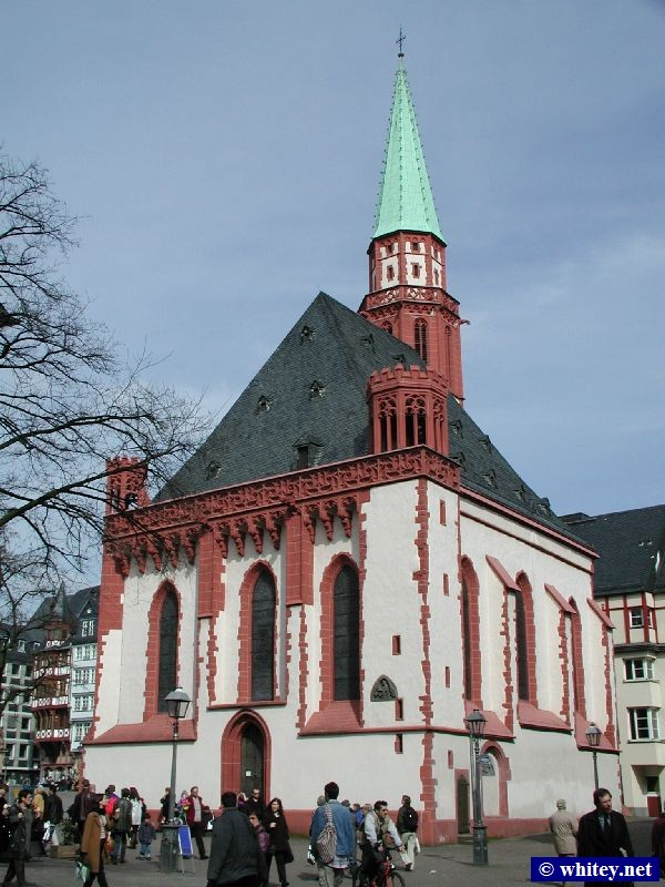 Alte Nikolaikirche, North bank of the Main river, Frankfurt, Germany.