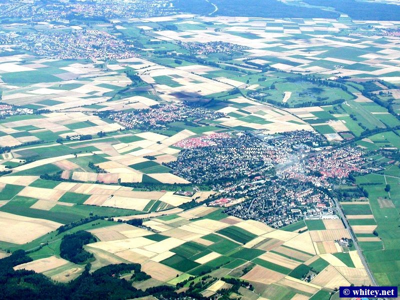 Aerial photo of the German countryside.