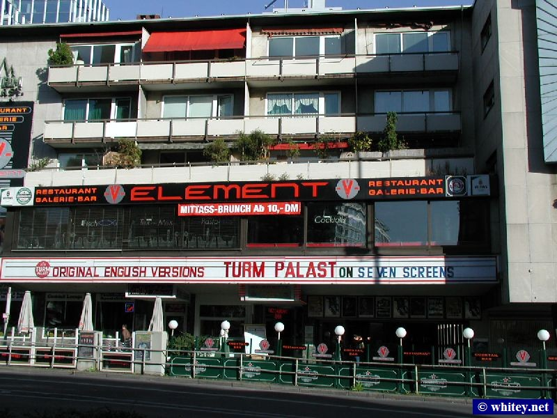 Turm Palast – The main cinema to get your English language film fix, Opposite Eschenheimer Turm, Allemagne.