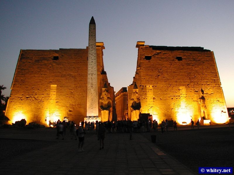 Sunset at the Luxor Temple, Central Egypt.