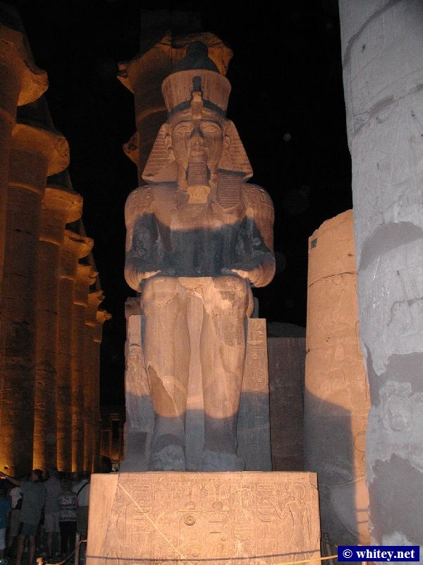 Statue of 法老 Ramses/Rameses/Ramesses II, 卢克索神庙, 埃及.