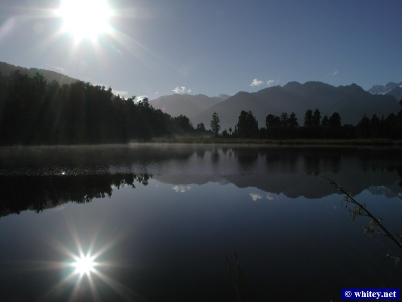 Lake Matheson, 남섬, 뉴질랜드 – Mirror-like water, Afternoon view.