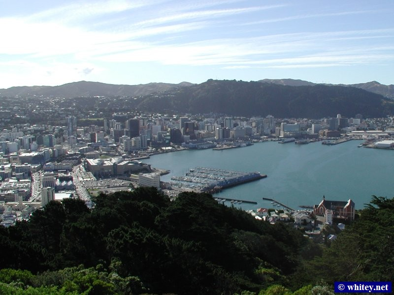 Wellington, Nordinsel, Neuseeland – Neuseeland's capital city, and the northern port for the cross island ferry.