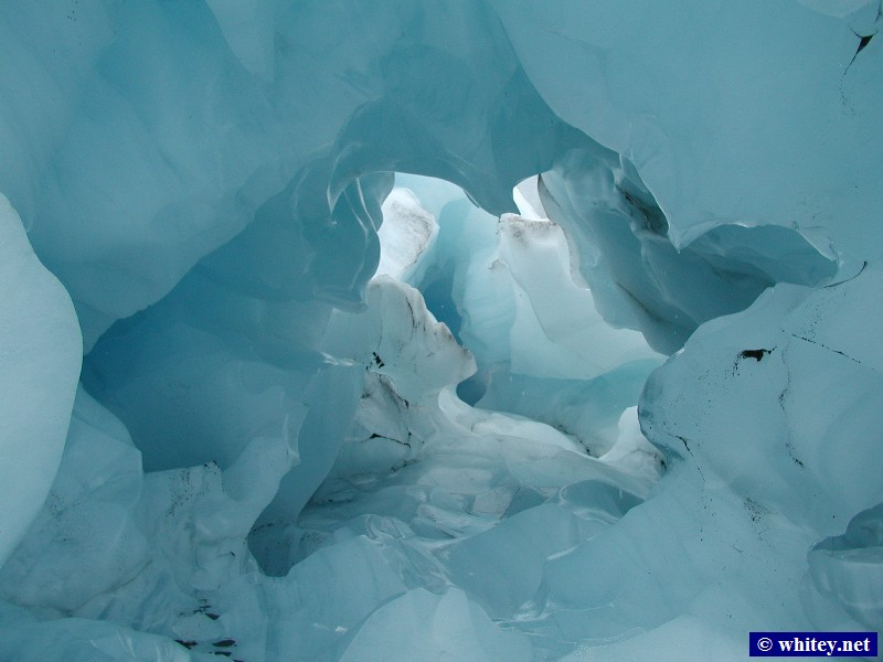 Fox Glacier, South Island, New Zealand – Blue ice cave.