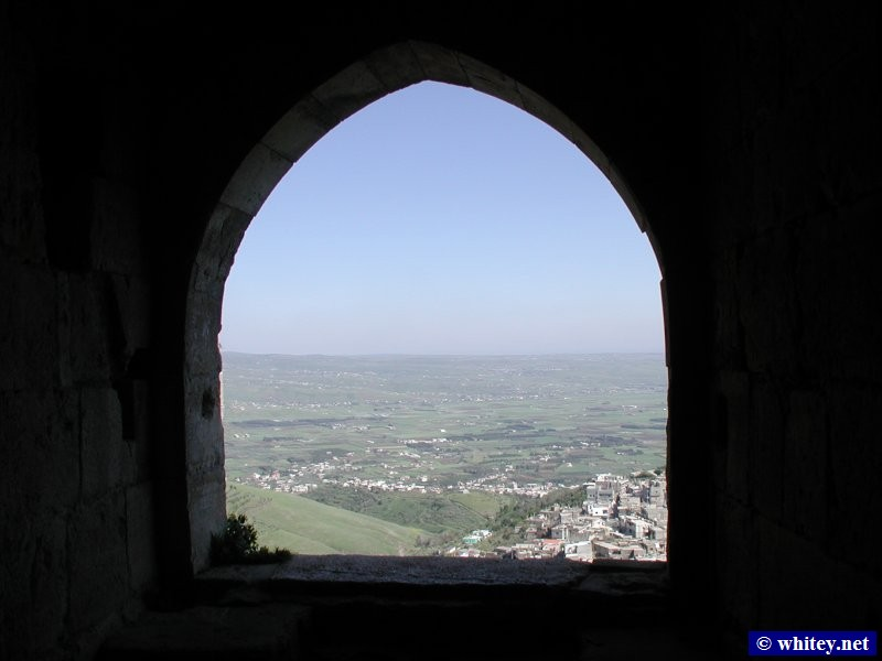 View from inside the castle, Крак де Шевалье, Сирия.