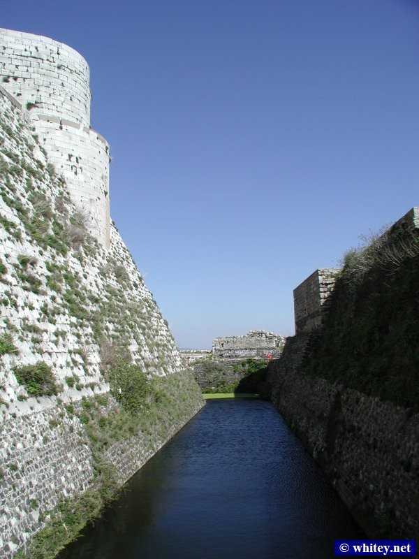 Inner Castle, Moat, and Outer Castle, 크락 데 슈발리에, 시리아.
