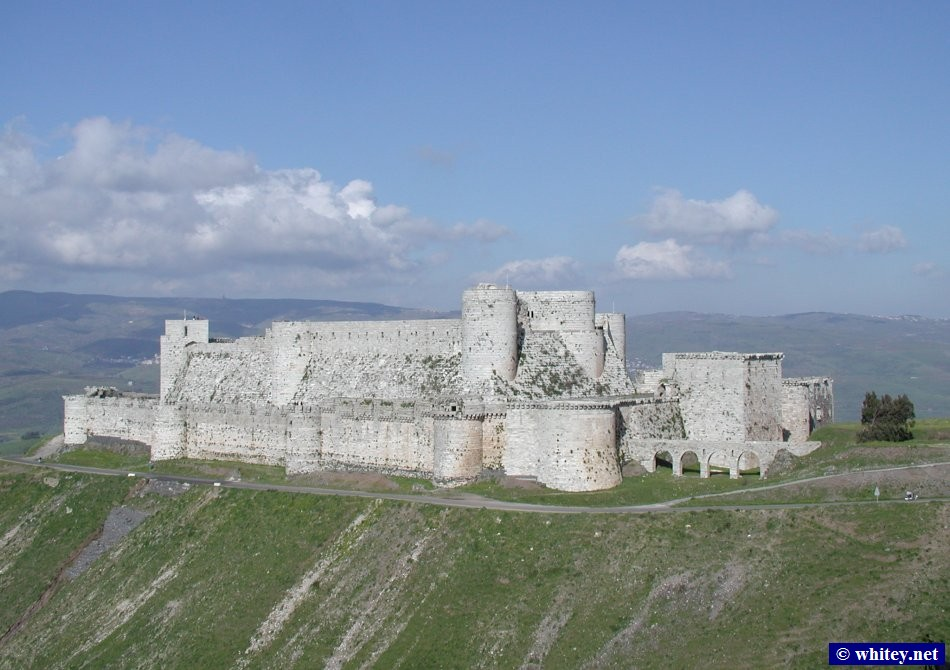 "A Crusader Fortress ""克拉克骑士堡"", Built 1150-1250 by the Knights of Saint John (Knights Hospitallers), near Homs, 叙利亚."